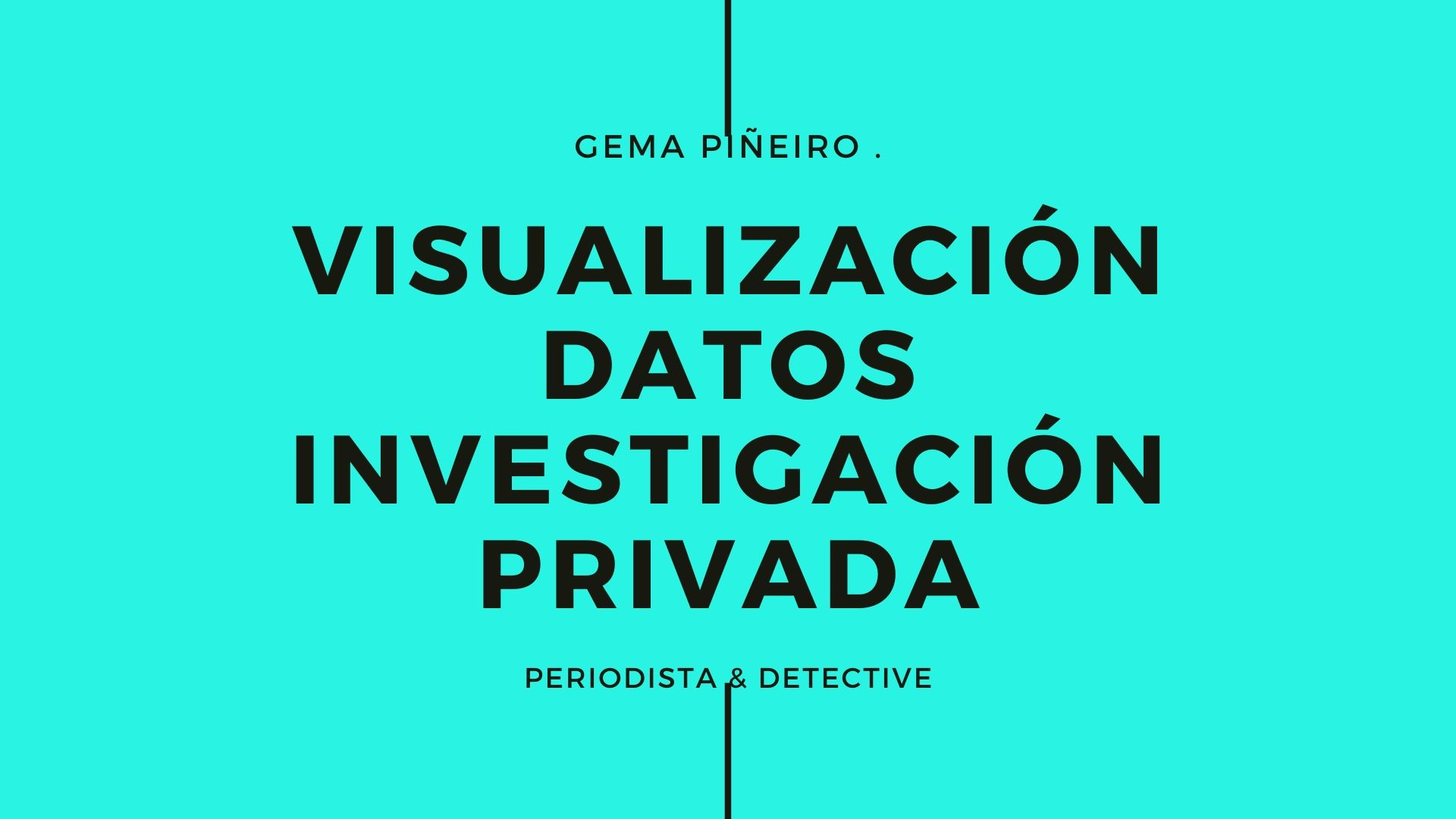 Visualización de los datos sobre investigación privada en España
